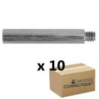 10 rallonges 20mm pattes à vis, filetage 7x150
