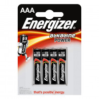 Piles alcaline Energizer AAA - LR3 - Blister x4