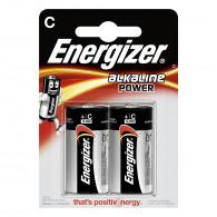 Piles alcaline Energizer C - LR14 - Blister x2