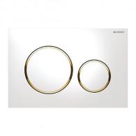 Plaque de déclenchement wc SIGMA 20 - Blanc et doré