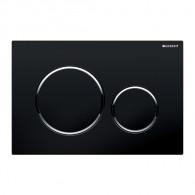 Plaque de déclenchement wc SIGMA 20 - Noir et chromé brillant