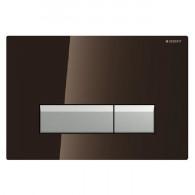 Plaque de déclenchement SIGMA 40 DuoFresh - Verre Chocolat/aluminium brossé