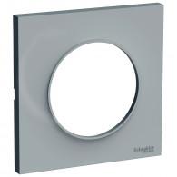 Plaque de finition ODACE Styl 1 poste - Gris - S520702A1
