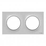 Plaque de finition ODACE Styl 2 postes - Sable - S520704B1