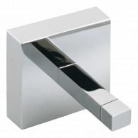 Porte-peignoir chromé QUATTRO - 52 x 50 mm