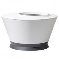 Vasque IKONE table basse Blanc cérusé/Gris anthracite Ø76 x 44,7 cm - 105L