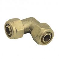 Raccord à compression tube PER - Coude égal - Somatherm