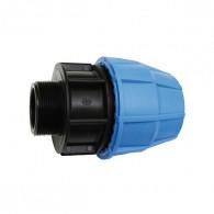 Raccord plastique tube PE - Droit mâle augmenté