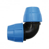 Raccord plastique tube PE - Manchon coudé