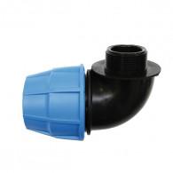 Raccord plastique tube PE - Raccord coudé mâle