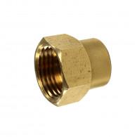 Raccord laiton à souder pour tube cuivre du Ø10mm au Ø52mm - Manchon femelle 270 GCU