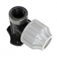 Raccords plastiques coude applique Femelle pour Tube PE ou PEHD