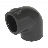 Raccord pression PVC Nicoll - Coude FF 90° NF