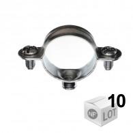 Lots de 10 Colliers métallique en acier simple - DISPONIBLE en 8 MODÈLES  - RAM