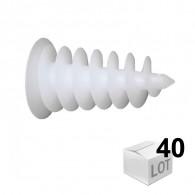 40 chevilles ISORAM pour fixation dans les matériaux en polystyrène