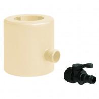 Récupérateur d'eau de pluie PVC pour tubes Ø 63-80-100 et oval 92x57mm - Sable
