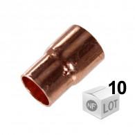 Lot de 10 réductions cuivre NF à souder Femelle Femelle 7modèles du Ø12mm au Ø28mm