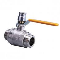 Robinet d'arrêt à vanne gaz naturel - JPG Mâle/Mâle - cadenassable