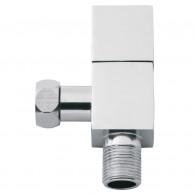 Robinet d'arrêt WC équerre 1/4 tour carré - chromé - mâle 3/8