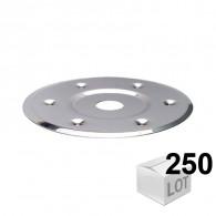 250 rondelles métalliques DTM 80 inox A2 pour maintient de l'isolant