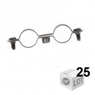 Lots de 25 Colliers Atlas Double 7x150 Ø28 -Fischer