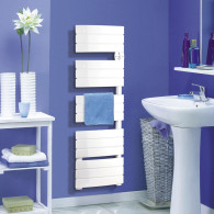 Sèche-serviette électrique AIRELEC ANTHEA + soufflerie - Blanc