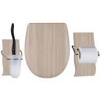 Set OLFA accessoires WC Maldivia mat - descente manuelle et déclipsable