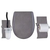 Set OLFA accessoires WC Martelé mat