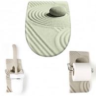 """Pack accessoire WC Set """"Feng Shui"""" avec descente assistée - Olfa"""