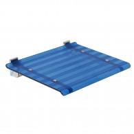 Siège de douche LEO bleu transparent