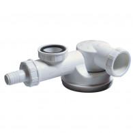 Siphon Ø40 mm ESPACE extra-plat avec prise machine à laver - Wirquin Pro 30720481