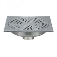 Siphon de sol inox Solusec 150x150 mm - sortie verticale Ø50