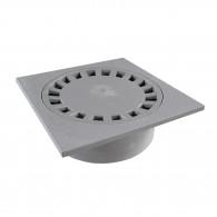 Siphon de sol PVC 100x100mm sortie verticale Ø32/40