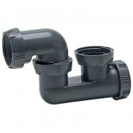 Siphon plastique à sortie orientable Ø40 - Wirquin Pro 30720448