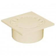 Siphon de sol Polypropylène 150x150mm sortie verticale Ø50-125 - Sable
