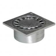 Siphonette chromée 150x150mm sortie verticale Ø50