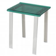 Tabouret de douche LEO vert transparent