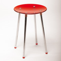 Tabouret de douche NONI rouge transparent