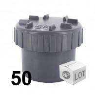 Lot de 50 raccords PVC - Tampons de visite Ø100 NF ME First Plast