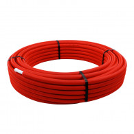 Tube multicouche prégainé rouge - Ø20 x 2 - Alu 0,25mm - 50 mètres - Arcanaute