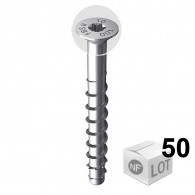 50 Vis béton ULTRACUT FBS II Ø10 - Tête fraisée + empreinte Torx - Disponible en 5 longueurs