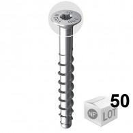 50 Vis béton ULTRACUT FBS II Ø8 - Tête fraisée + empreinte Torx - Disponible en 3 Longueurs