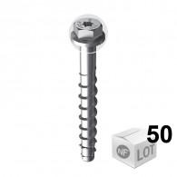 50 Vis béton ULTRACUT FBS II Ø8 - Tête hexagonale + empreinte Torx - DISPONIBLE en 7 longueurs