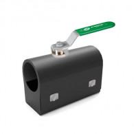Vanne à sphère laiton femelle-femelle à prolongateur + boîte d'isolation K-Box