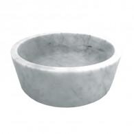 Vasque bol cylindrique à poser en pierre H15cm - Ø42cm - Ondyna UR2006