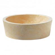 Vasque bol cylindrique à poser en pierre H15cm - Ø42cm - Ondyna UR2005