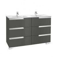Meuble Unik VICTORIA-N Family 1200 6 tiroirs et lavabo double