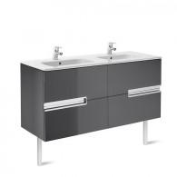 Meuble Unik VICTORIA-N 1200 4 tiroirs et lavabo double