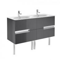 Meuble Unik VICTORIA-N oval 1200 4 tiroirs et lavabo double