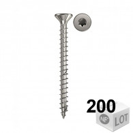 200 Vis bois acier inoxydable Power-Fast TX20 Ø5x30mm